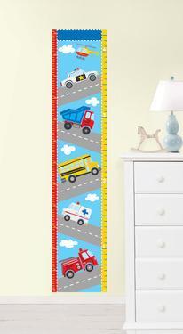 Transportation Growth Chart Wall Decal Sticker