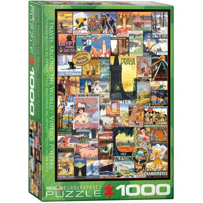 Travel Around the World Vintage Posters 1000 Piece Puzzle