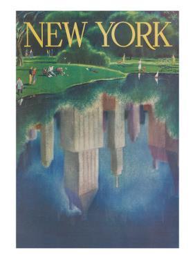 Travel Poster, Central Park, New York City