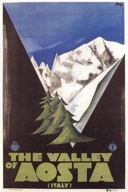 Travel Poster for Aosta Valley