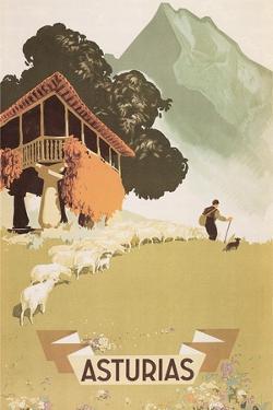 Travel Poster for Asturias, Spain