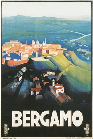 Travel Poster for Bergamo, Italy