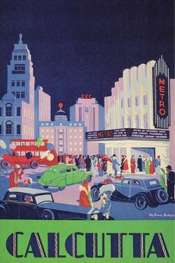 Travel Poster for Calcutta, India