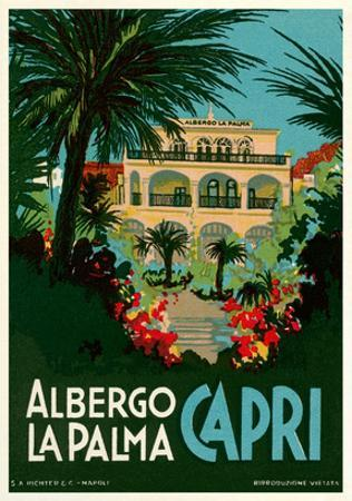 Travel Poster for Capri, Italy