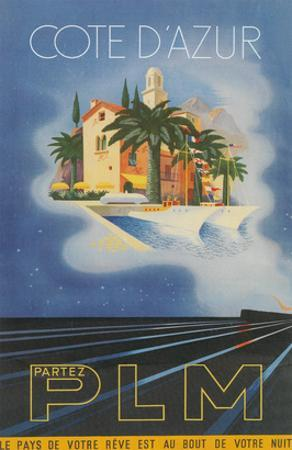 Travel Poster for Cote d'Azur