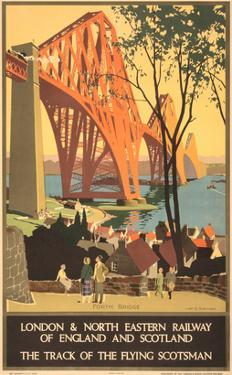 Travel Poster for Flying Scotsman, Forth Bridge