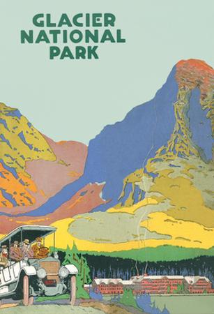 Travel Poster for Glacier Park