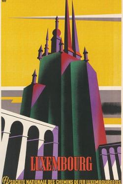 Travel Poster for Luxembourg