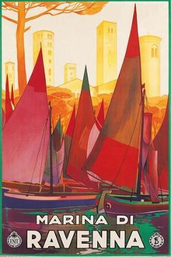Travel Poster for Marina di Ravenna, Italy