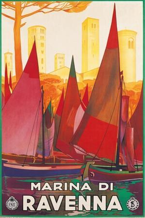 Travel Poster for Marina di Ravenna, Italy