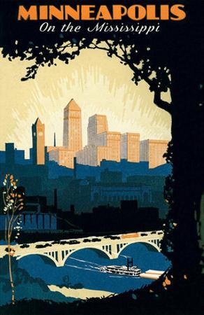 Travel Poster for Minneapolis