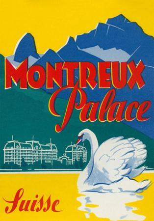 Travel Poster for Montreux, Switzerland