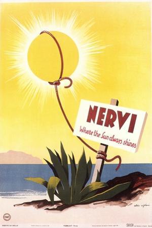 Travel Poster for Nervi