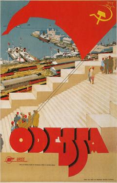 Travel Poster for Odessa, USSR