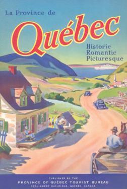 Travel Poster for Quebec, Canada