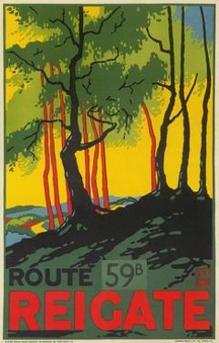 Travel Poster for Reigate, Surrey, England