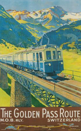 Travel Poster for Swiss Railway