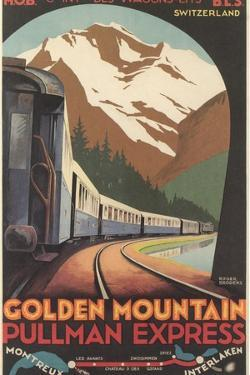 Travel Poster for Swiss Trains
