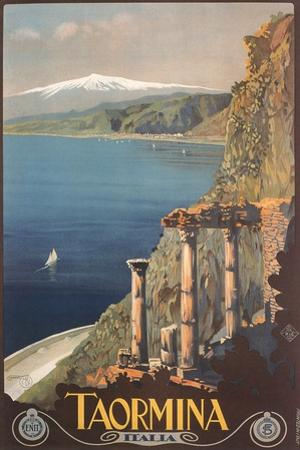 Travel Poster for Taormina