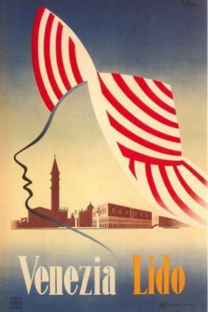 Travel Poster for Venice Lido