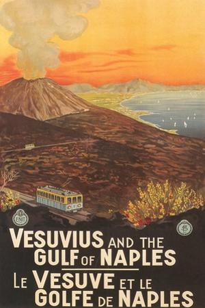 Travel Poster for Vesuvius