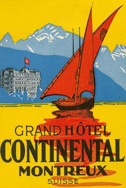 Travel Poster, Montreux, Switzerland