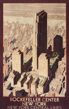 Travel Poster, Rockefeller Center, New York City