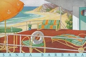 Travel Poster with Patio