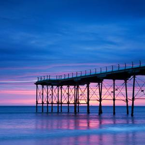 The Pier at Saltburn-By-The-Sea, North Yorkshire, at Sunrise by Travellinglight