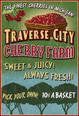 Traverse City, Michigan - Cherry Farm