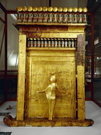 Treasure of Tutankhamen, Gilded Shrine of Canopic Jars or Canopic Chest from New Kingdom