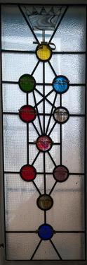 Tree of Life with Ten Sephirots of the Hebrew Kabbalah, Ari Ashkenazi Synagogue, Safed (Zfat), G...