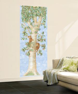 Tree W/Bears Huge Mural Art Print Poster