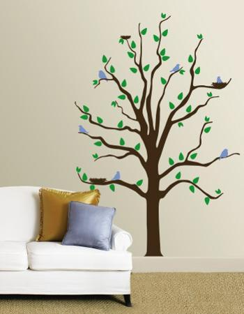 Tree With Blue Birds