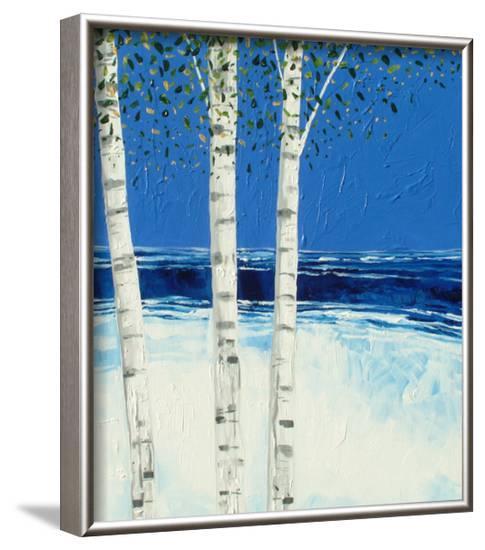 Trees and Sea 1-Stuart Roy-Framed Art Print