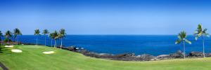 Trees in a Golf Course, Kona Country Club Ocean Course, Kailua Kona, Hawaii