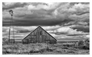Windmill and Barn by Trent Foltz