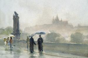 Umbrellas, Charles Bridge, Prague by Trevor Chamberlain
