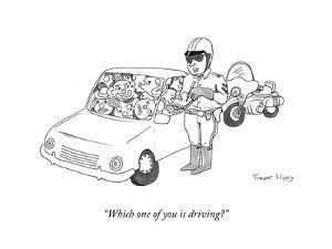 """""""Which one of you is driving?"""" - Cartoon by Trevor Hoey"""