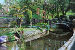 Bridge and Garden, Bakewell, Derbyshire, 2009 by Trevor Neal