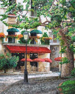 Cafe Beauclaire, Provence, 2004 by Trevor Neal