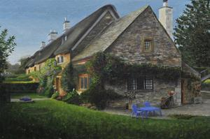 Thatched Cottage, Great Tew, 2014 by Trevor Neal