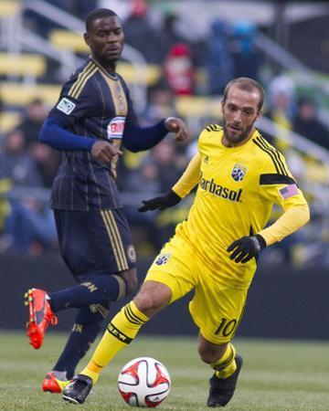 Mar 22, 2014 - MLS: Philadelphia Union vs Columbus Crew - Maurice Edu, Federico Higuain