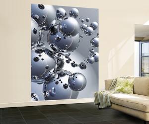 Trevor Scobie Silver Orbs Wall Mural