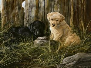 Lab Pup Pair by Trevor V. Swanson
