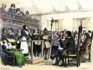 Trial of Giles Corey's Wife for Witchcraft, Salem, 1692