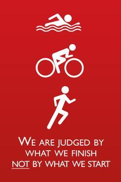 Triathlon Motivational Quote Plastic Sign