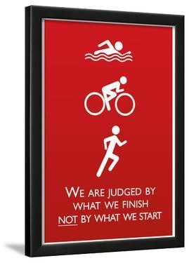 Triathlon Motivational Quote Sports Poster Print