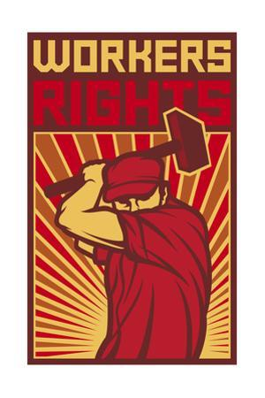 Workers Rights Poster by tribaliumbs