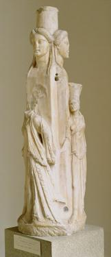 Triform Herm of Hecate, Marble Sculpture, Attic Period, 3rd Century